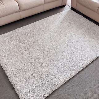 ALHEDE Rug, high pile, Off-white
