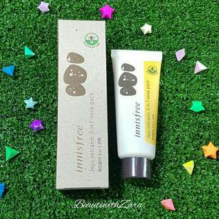 Authentic Innisfree Jeju Volcanic 3 in 1 Nose Pack 40ml