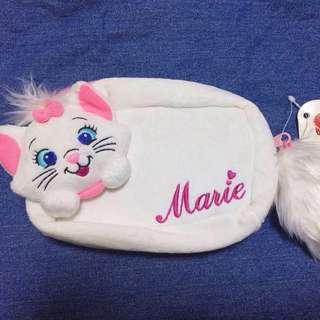 日本絕版 Disney Marie 富貴貓 化妝袋/收納袋 迪士尼