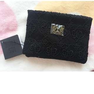 日本版 - ANNA SUI 黑色通花蝴蝶紙巾套 散銀包 卡片套 Tissue Case Purse card case