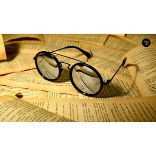 My glasses-復古圓框雷朋墨鏡-太陽眼鏡-夏天-海灘