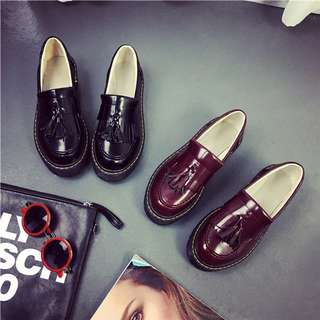 紅色流蘇樂福鞋39號(24.5號)