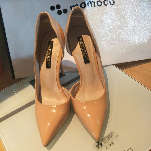 杏色氣質高跟鞋含運費