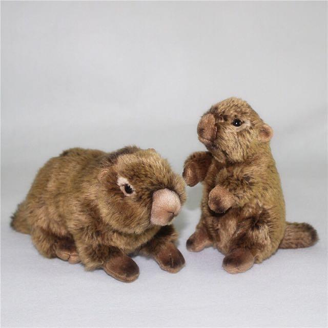 🐻仿真土撥鼠地鼠站立姿玩偶娃娃