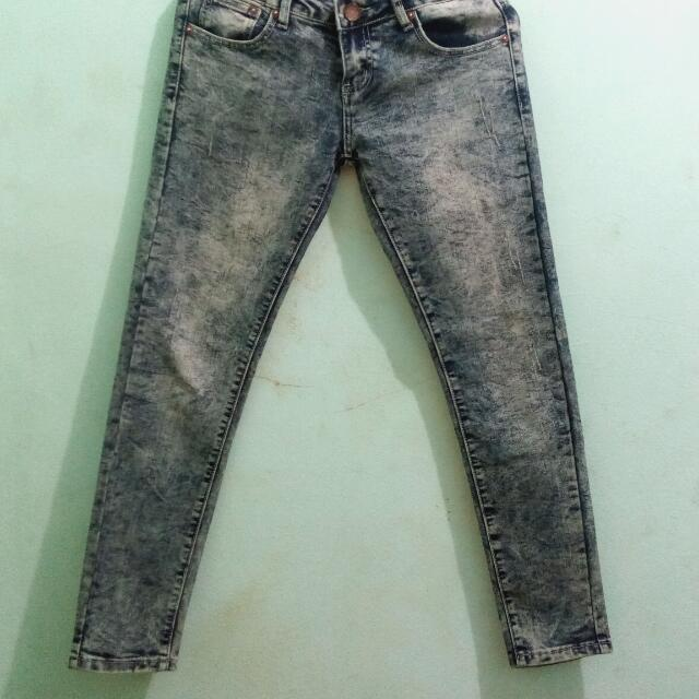 Acid Washed Cool Teen Jeans