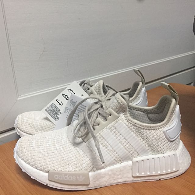 b17b4a95d ... sale adidas nmd runner r1 roller knit clear brown white brand new in  box womens fashion