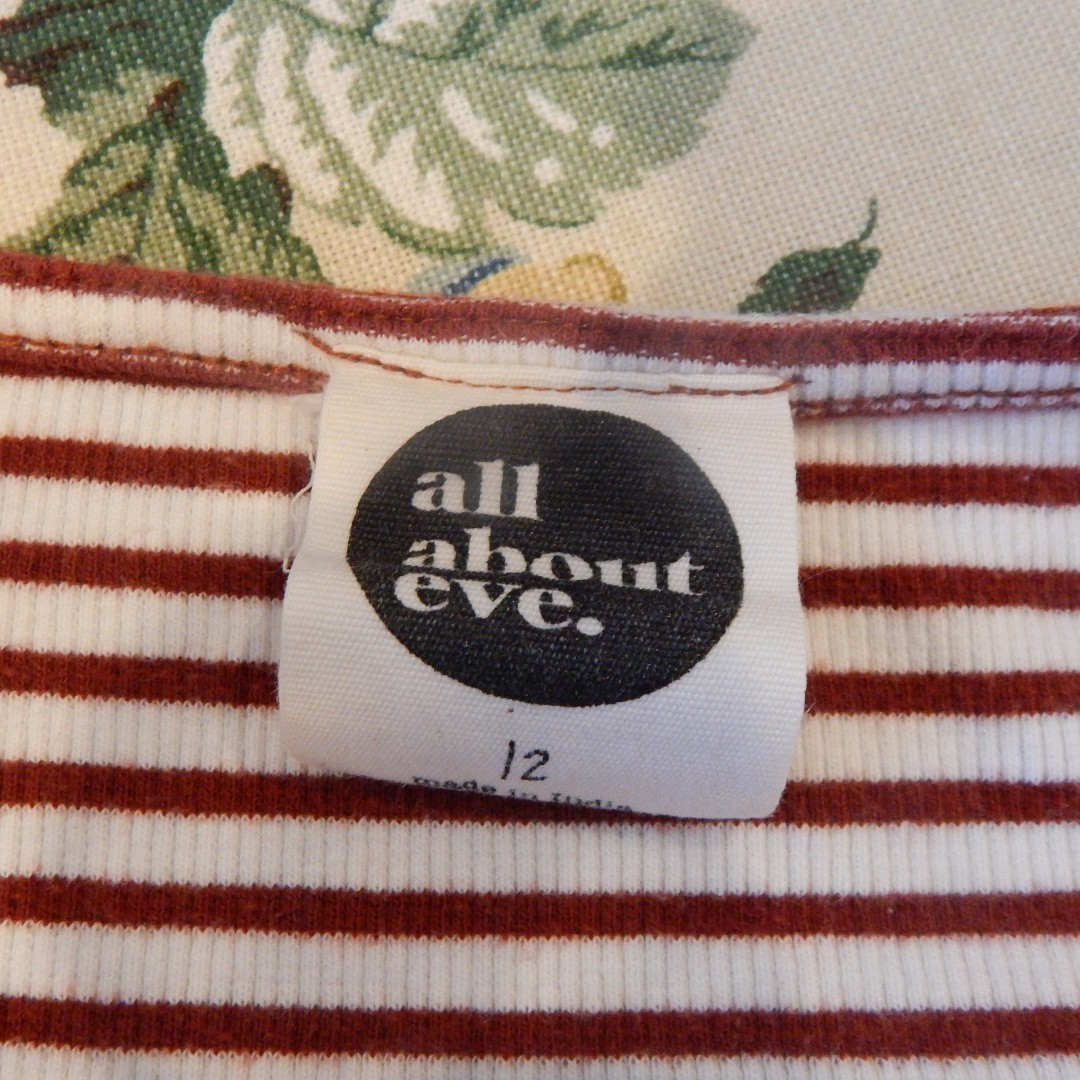 All About Eve Striped Cropped Top Size 12
