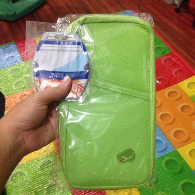 Apple Green Passport Holder