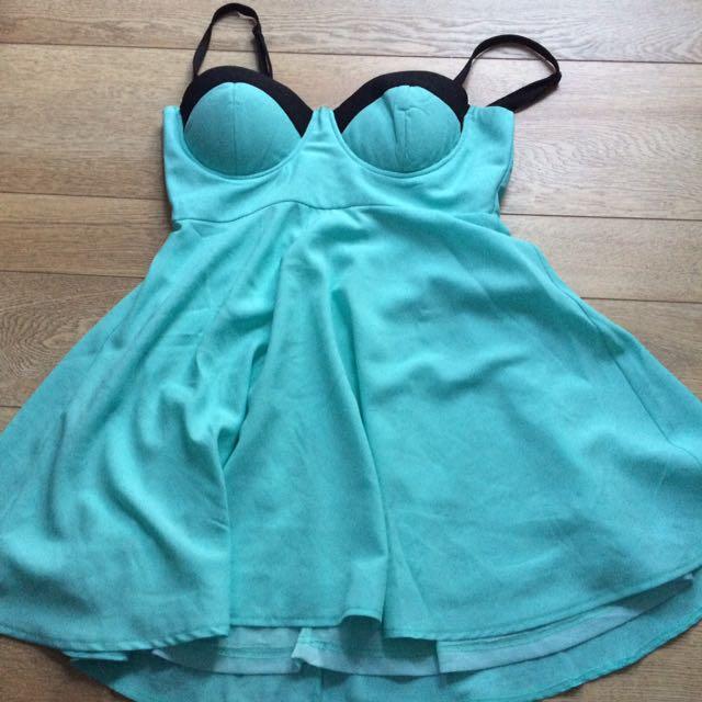Aqua Ava Ever  Blue/green Dress