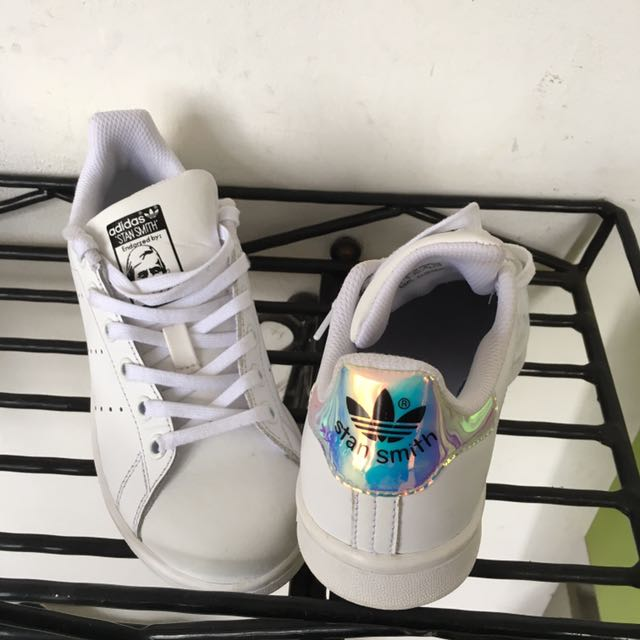premium selection dcd84 d1f53 AUTHENTIC ADIDAS STAN SMITH IRIDESCENT HOLOGRAPHIC WHITE ...