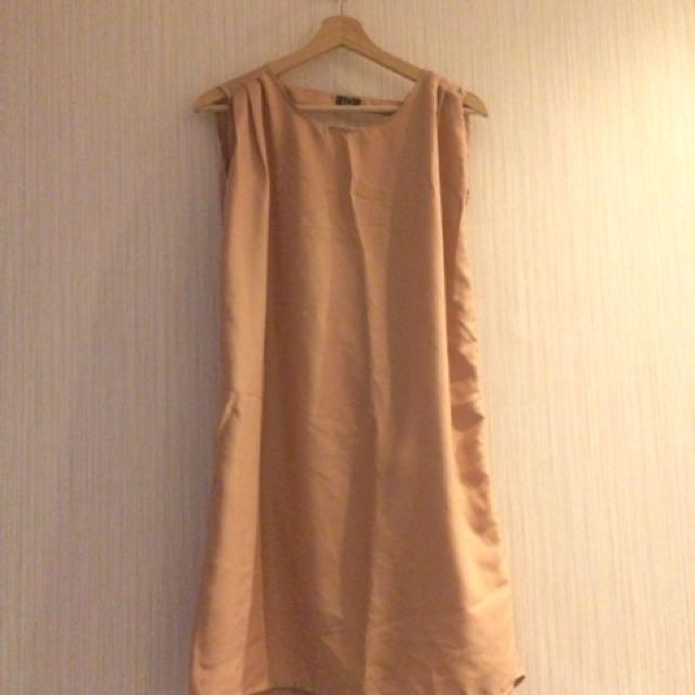 Backless Dress Pastel Color Rose