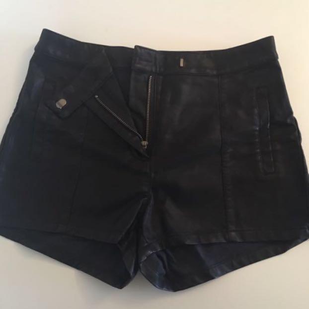 Bardot Leather Look Shorts