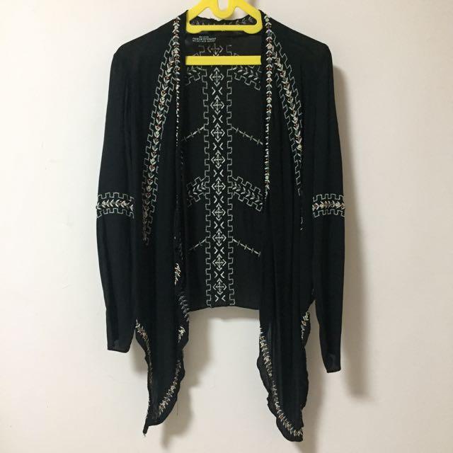 Bershka Boho Black Cardigan