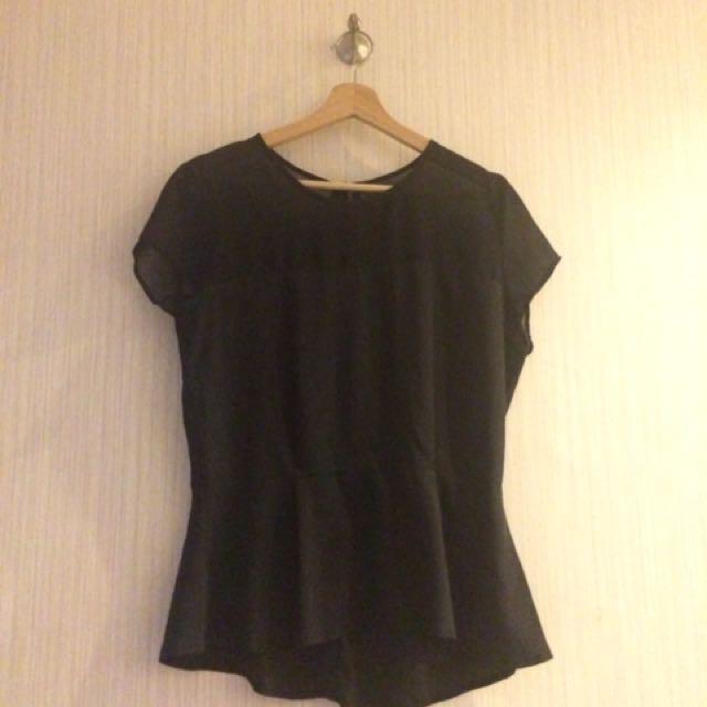 Bershka Shirt Black