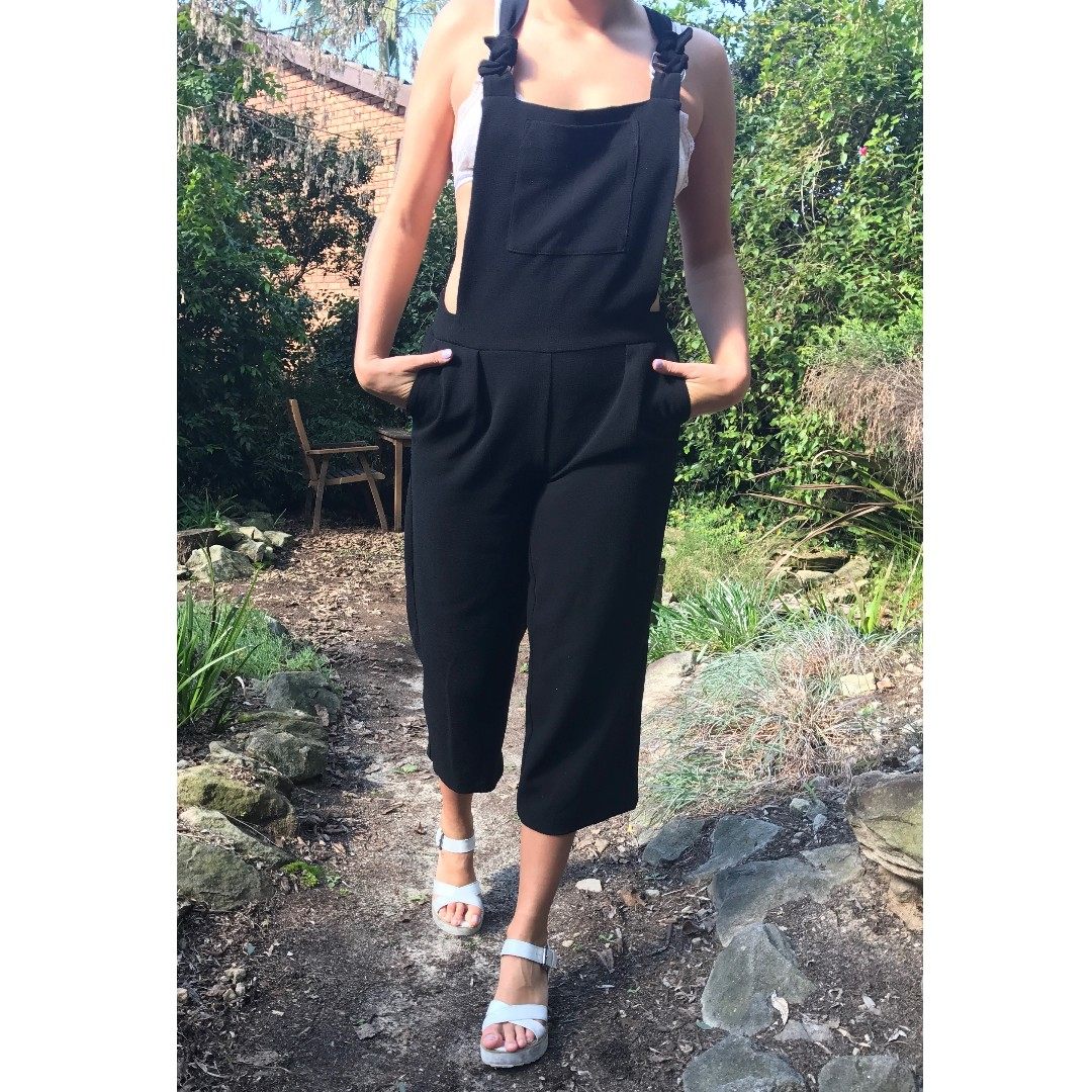 Black Jumpsuit With Pinafore