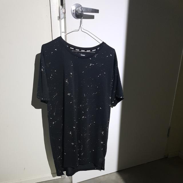 Black Spotty Tall Tee Shirt
