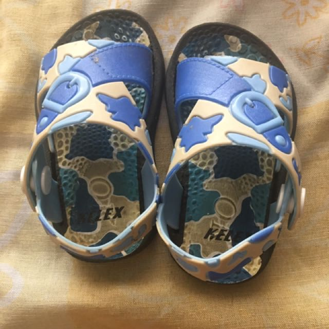 Blue Army Shoes 3-6mos