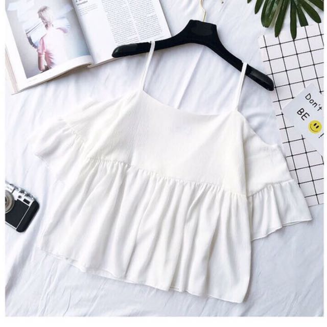 967d2c8cfd78f9 BN White Off Shoulder Song Top