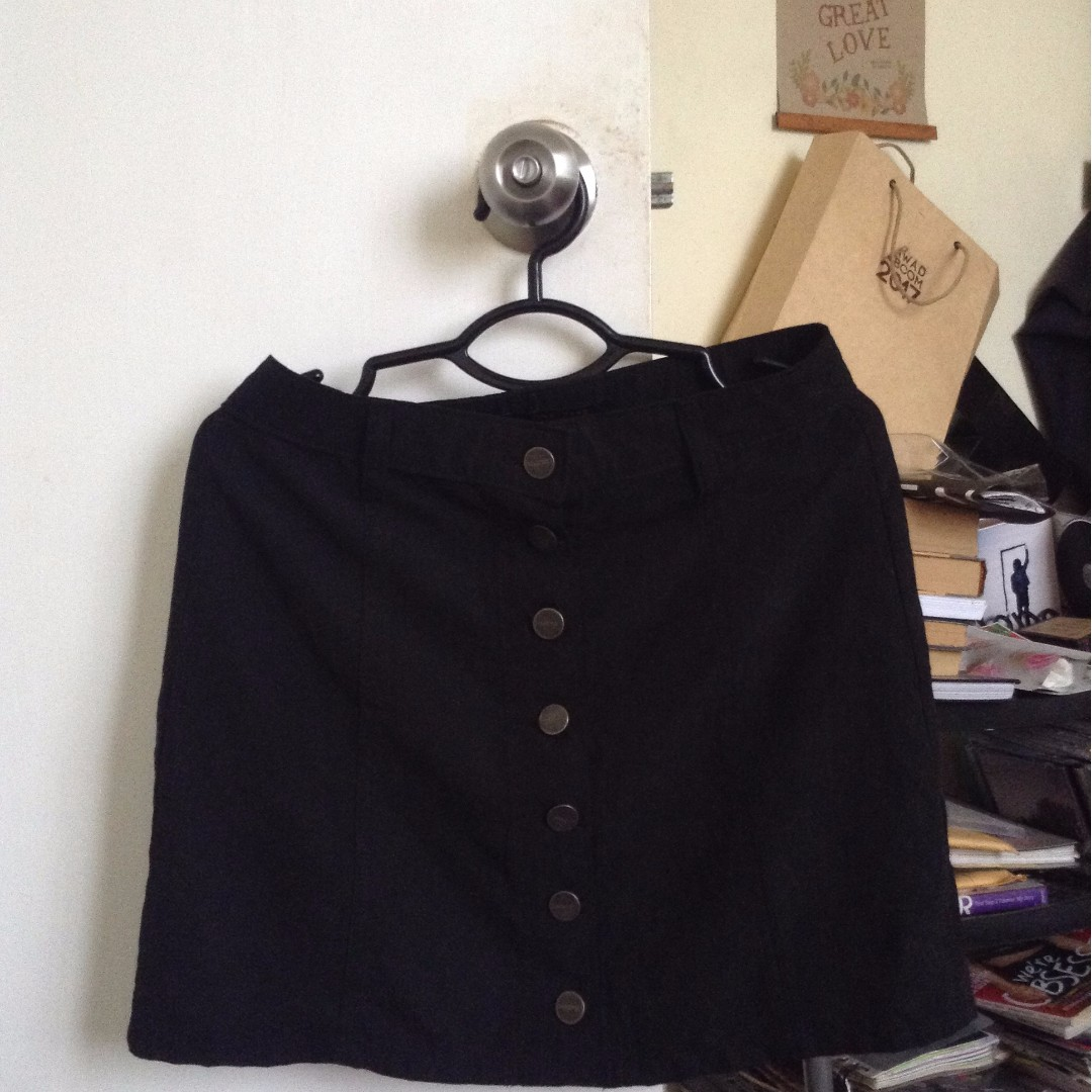 Brand New Penshoppe Black High Waisted Skirt