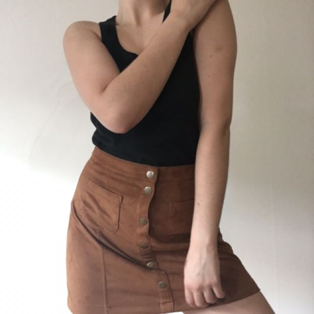 Garage High Waisted Skirt