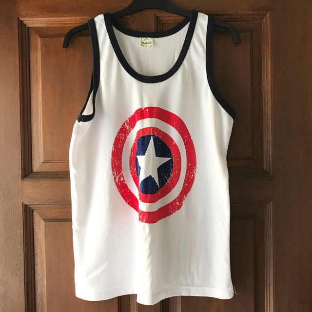 Captain America Men's Singlet