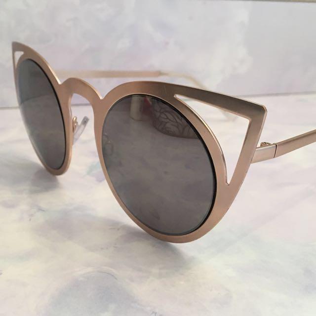 Cat Eye Cut Out Sunglasses