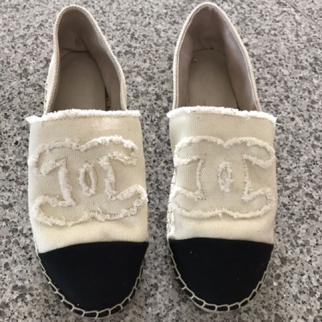 Chanel Espradiles Shoes Size 7