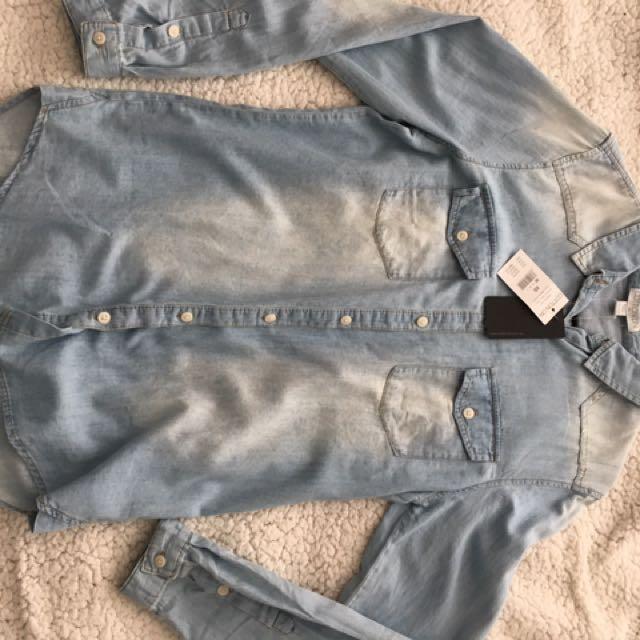 Cotton On Denim-look Blouse