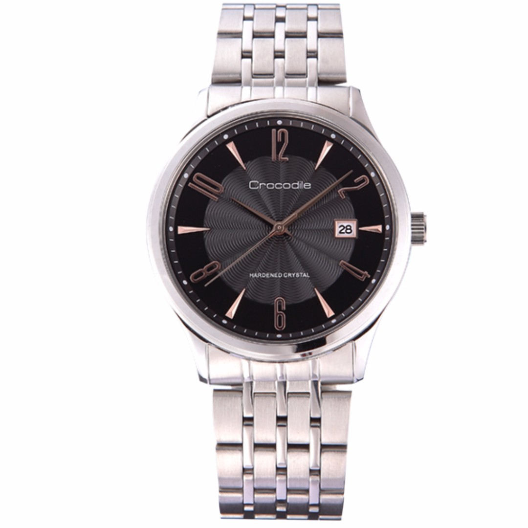 Seiko Analog Superior Automatic Jam Tangan Strap Stainless Steel Sgee73p1 Silver Crocodile