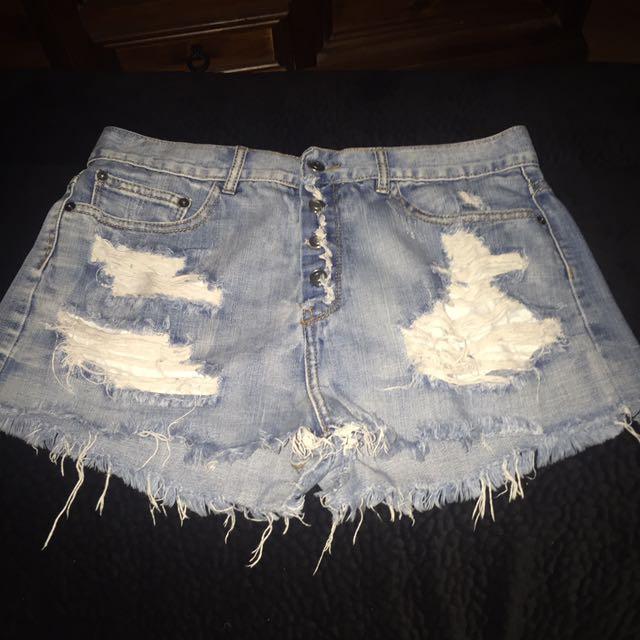 Denim Supre Shorts