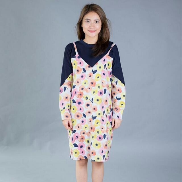 Dress Wanita Modis Feminine Style