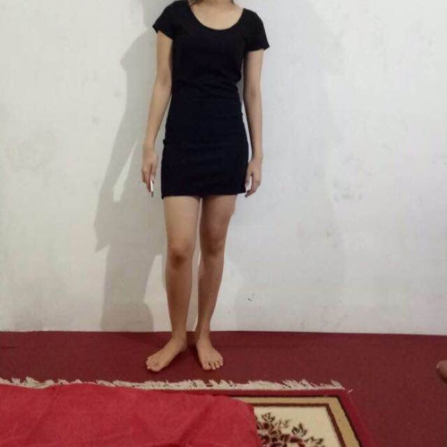 dress hitam f21