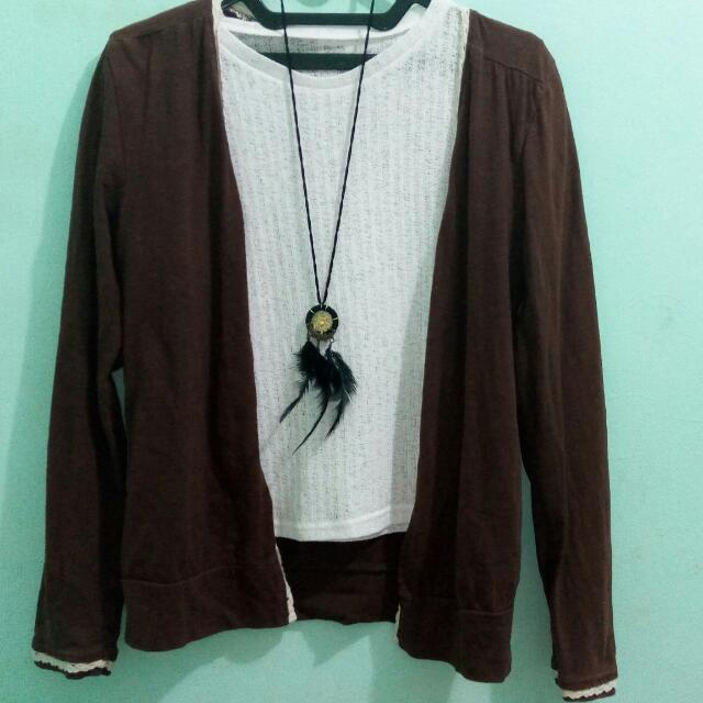Edge Lacey Brown Cardigan