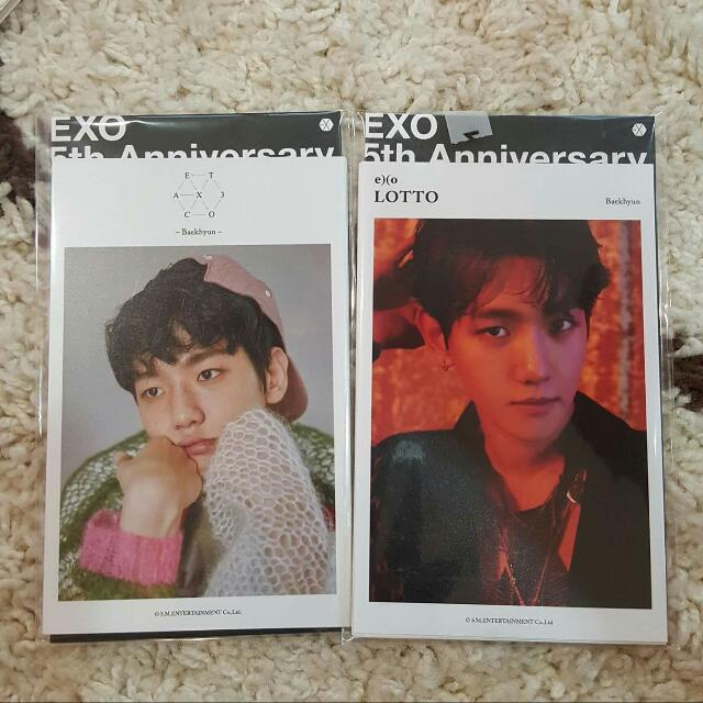 (PRICE REDUCED) EXO 5th Anniversary BAEKHYUN 4x6 Photo Set