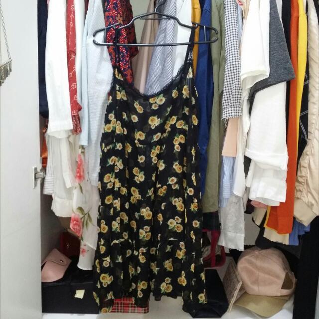 F21 Forever 21 Sunflower Dress