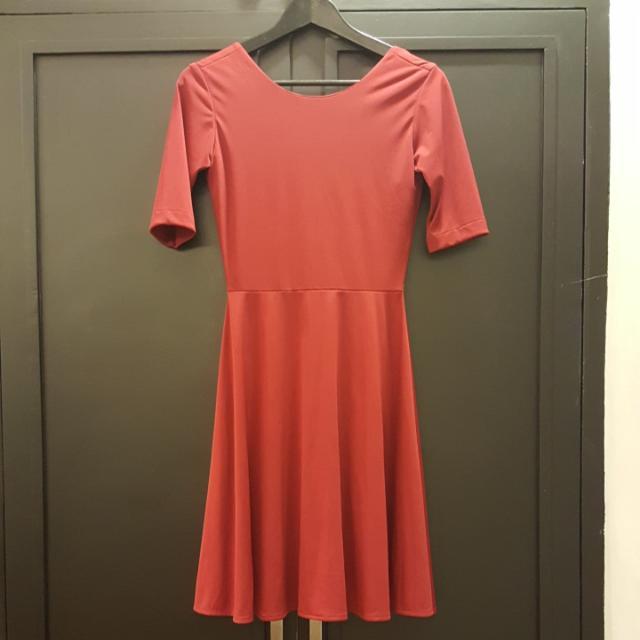 Florence Fling Red Low Back Dress