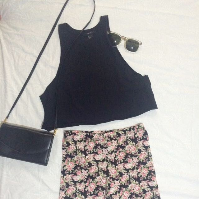 Forever 21 Cropped Muscle Tee