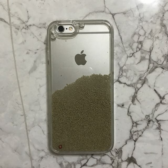 Gold Beads in Water hard case for iPhone 6/6s