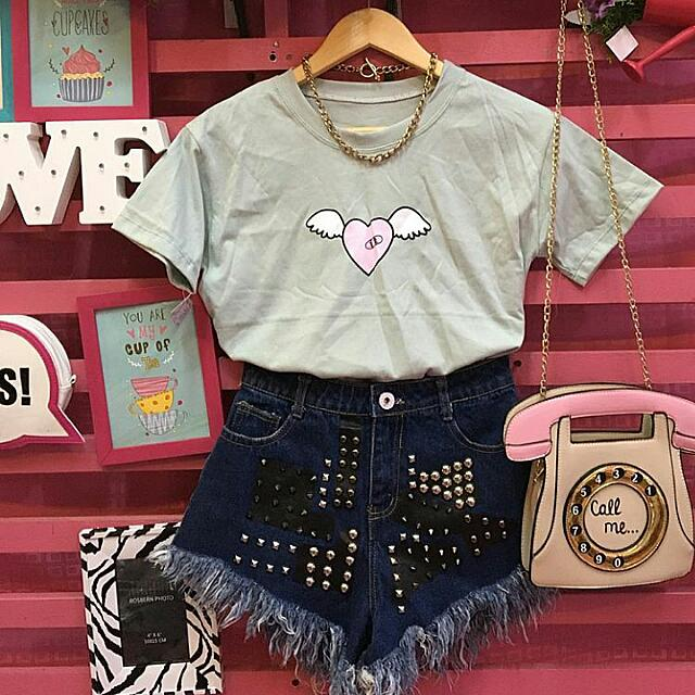 Heart With Wings Basic Tee