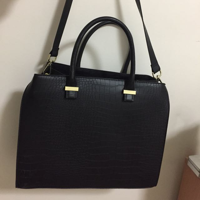 H&M Black Bag With Strap