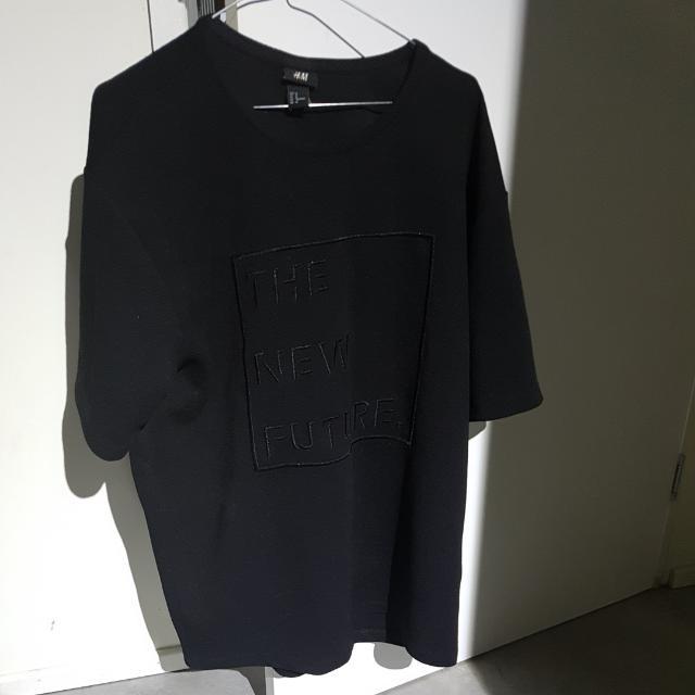 H&M Black Material Shirt