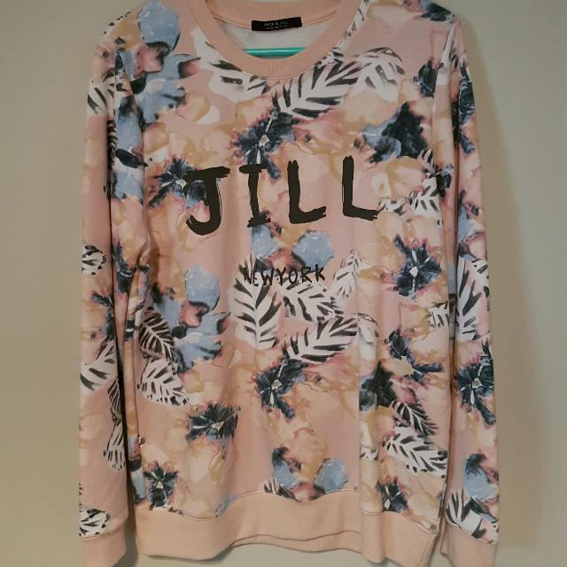Jack And Jill Floral Patterned Sweatshirt
