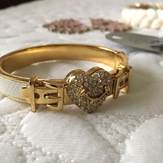 Lot Of 4 Juicy Couture Bracelet, Top Shop Necklace, H&M Earrings, Paris Headband