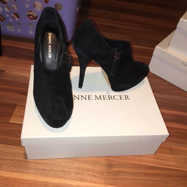 Joanne Mercer Black Boot Heels