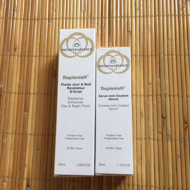 Jual Paket Physio Radiance ReplenisH Enhancer Day & Night Fluid 50ml Dan Physio Radiance ReplenisH Serum Anti-Oxydant 35ml (NEW)
