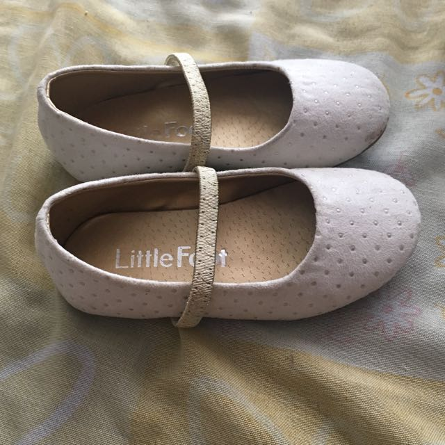 Little Foot Ecru Toddler Shoes 2-3yo