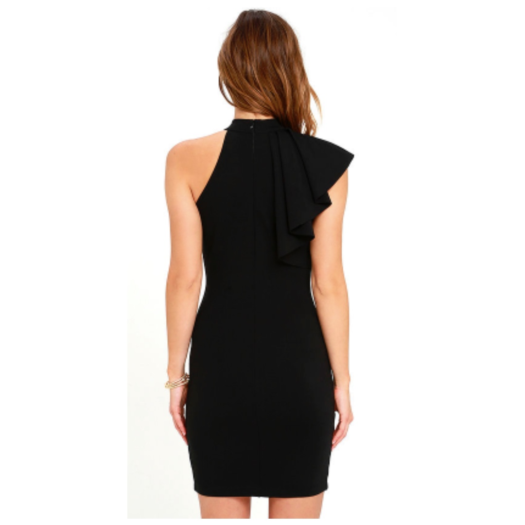 8f6e93107fa3 Lulus Au Revoir BLACK Bodycon Dress, Women's Fashion, Clothes, Dresses &  Skirts on Carousell