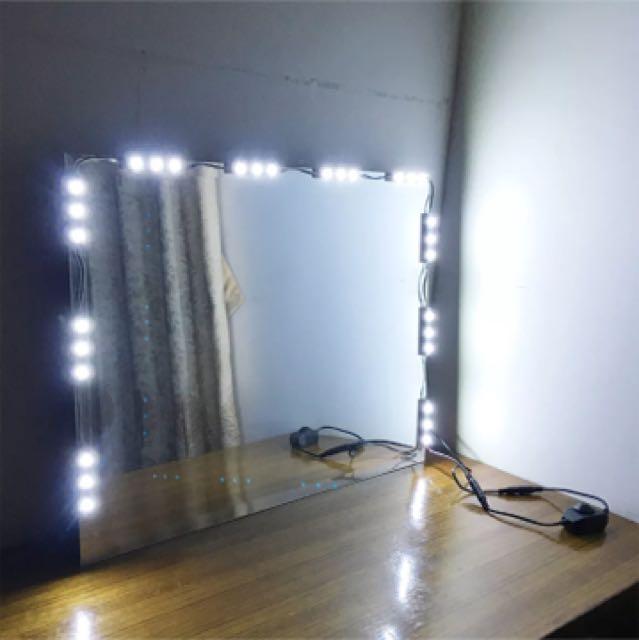Hollywood Lightened Make Up Mirror LED light Kit With Dimmer Vanity Light 5ft