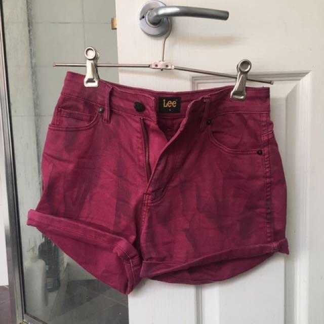 Maroon Lee Shorts