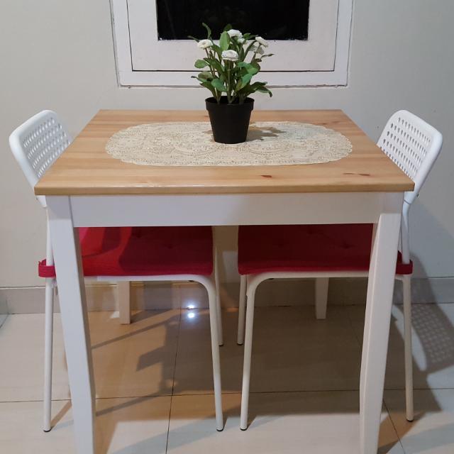 Meja Makan Minimalis Ikea Lerhamn Home Furniture On Carousell